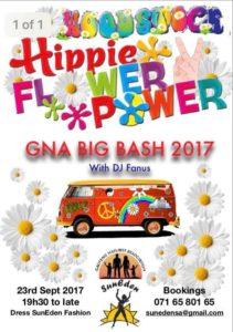 GNA Big Bash  - Woodstock Hippy Flower Power Party @ Suneden