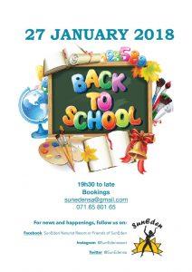 Back to school Party Weekend at Suneden @ Suneden