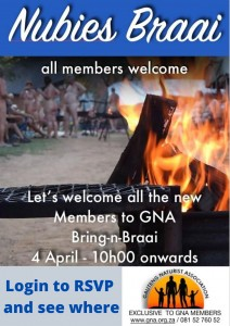 Nubies Braai @ Vaal vicinity - Login to RSVP and find our where