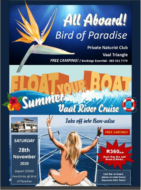 Float Your Boat Summer Vaal Cruise @ Birds of Paradise - Vaal Triangle