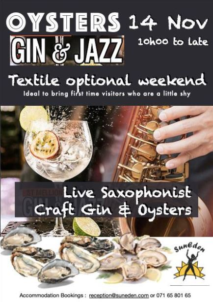 Oysters, Gin and Jazz @ SunEden